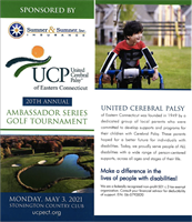 20th Annual Golf Tournament on Monday, May 3rd Supports UCP of Eastern CT, Offers Great Start to 2021 Golf Season