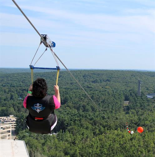 Zip Line, 350 feet up and 1 mile long