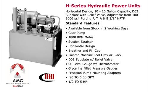 AMC H-Series Hydraulic Power Unit