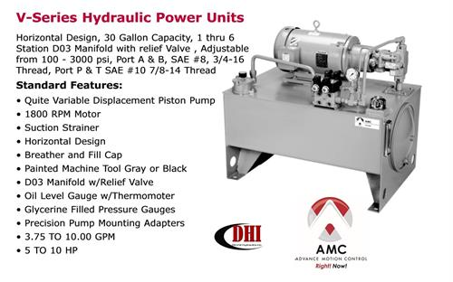 AMC V-Series Hydraulic Power Unit