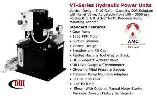 AMC VT-Series Hydraulic Power Unit