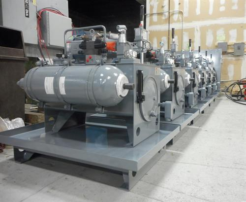 Array of 6 Custome Hydraulic Power Units