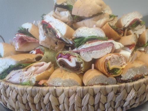 Gourmet Sandwiches from our corporate menu
