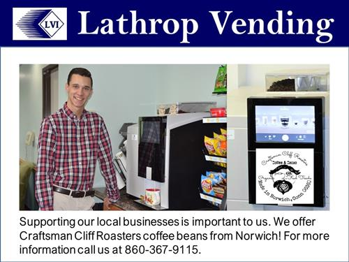 Lathrop Vending Bean to Cup Coffee Machine and Services