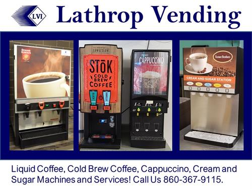 Lathrop Vending Liquid Coffee Machines and Services