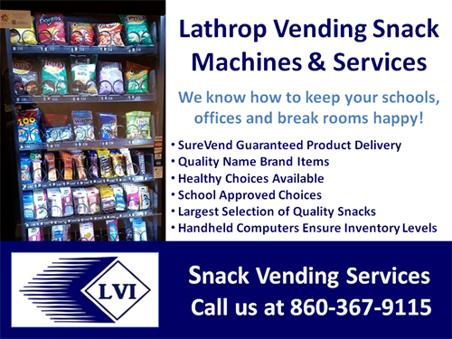 Lathrop Vending Machines, Products and Services