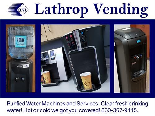 Lathrop Vending Purified Water Machines and Services