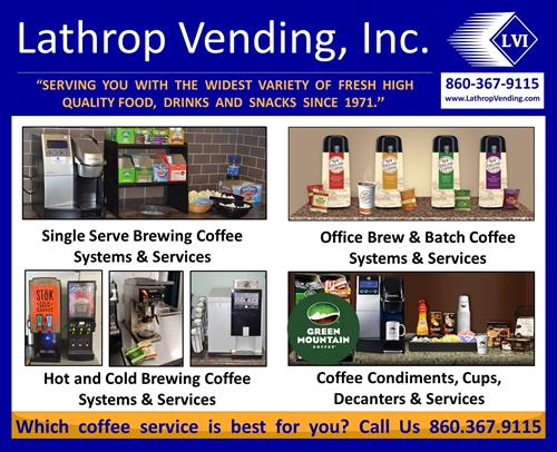 Lathrop Vending Coffee Machines, Products & Services