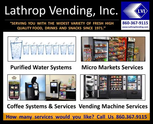 Lathrop Vending Machines and Service