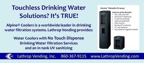 Touchless Purified Drinking Water!