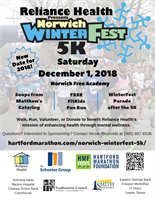 Reliance Health's Norwich WinterFest 5K Set for Dec 1
