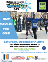 Reliance Health Presents the 7th Annual Norwich WinterFest5K and Free FitKids Fun Run