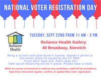 Reliance Health to help register voters for National Voter Registration Day