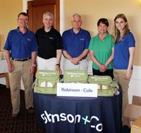 Robinson+Cole having a blast sponsoring last year's golf tournamnet