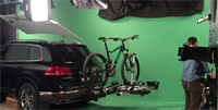 Green screen shoot for Thule bike rack