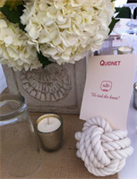 Nautical Wedding Center piece knots