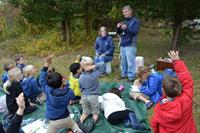 The second grade's yearly trip to the Knox Preserve to study birds.