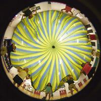 Physical Education class uses a parachute