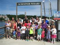 The group of Kids after a beautiful sail to watch the Regatta