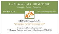 HR Masterpiece, L.L.C. Business Card front