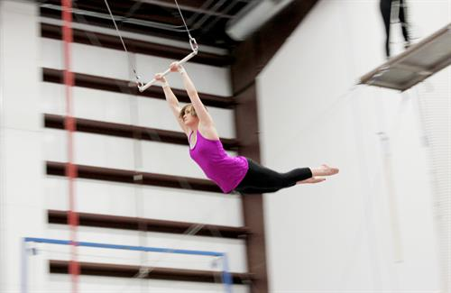 a swing on the flying trapeze