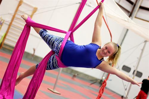 Aerial Fabrics are a fun way to build strength