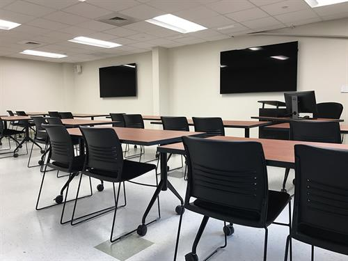 Two computer classrooms, both available for rental