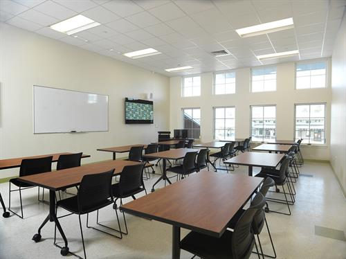 Modern classrooms, all available for rental