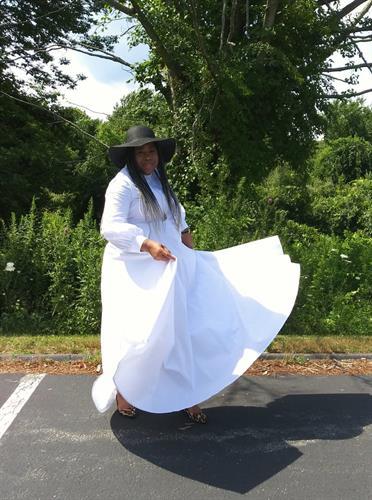 The Fleur De Blanc dress comes in size S-3X