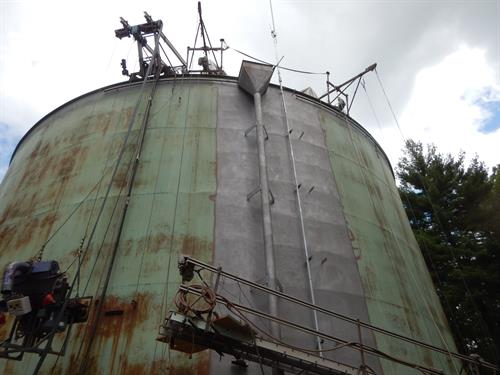 Rehabilitation of exterior coating for water storage tank