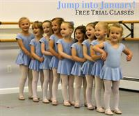 Free Trial Classes in January at Eastern CT Ballet