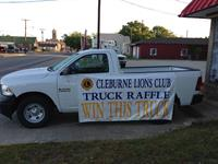 Members of Cleburne Lions Club.   Call us to ask for a ticket to win a new truck!!