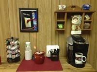 Stop on by for a cup of coffee.