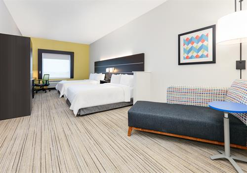Our newly renovated spacious guest rooms are richly appointed to help you unwind and relax while visiting Johnson County.
