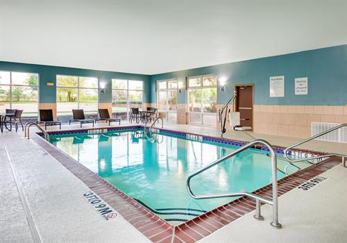 Our indoor pool and hot tub is open daily for registered guests.