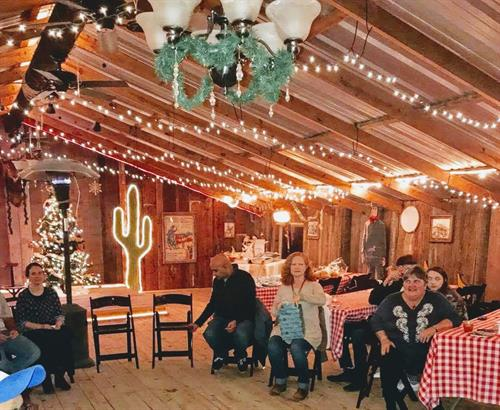 We host Holiday parties!