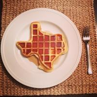 Yum! Enjoy Texas Shaped waffles @ Best Way Inn Cleburne