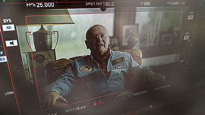 Mustang International provided Video Assist services for an international television commercial focused on Astronaut, Alan Bean.