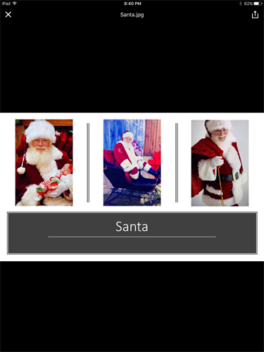Santa Clause will be there to take family photos??