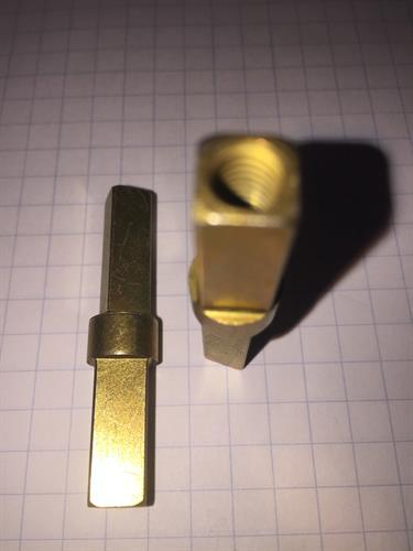Twist rods for commercial door locks. Cadmium plated.