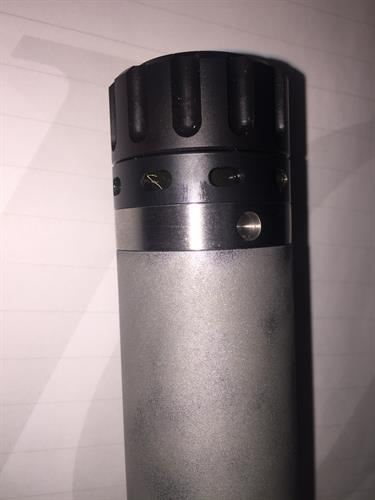 Installed view of a custom adapter for a 3-lug suppressor mount