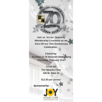 Chamber 70th Anniversary Kick-Off & Quarterly Membership Luncheon