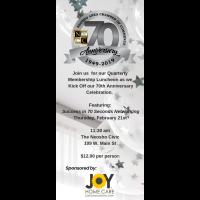 Chamber 70th Anniversary Kick-Off & Quarterly Membership Luncheon