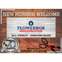 New Member Welcome & Ribbon Cutting- Flowerbox Clothing Company