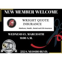 New Member Welcome & Ribbon Cutting- Wright Quote Insurance