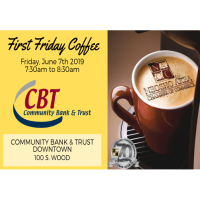 First Friday Coffee - Community Bank & Trust - Downtown Neosho
