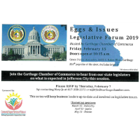 Carthage Eggs & Issues Legislative Forum 2019