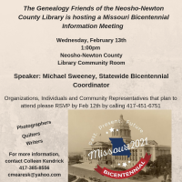 Missouri Bicentennial Information Meeting