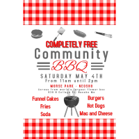 Completely FREE Community BBQ