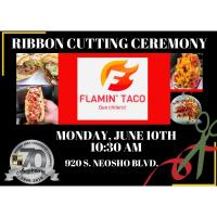 Flamin Taco New Member Welcome Ribbon Cutting